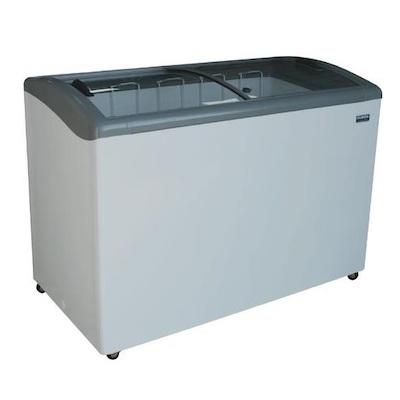 """Ojeda Glass Top Ice Cream Freezer NB-51 - 51"""""""