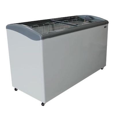 """Ojeda Glass Top Ice Cream Freezer NB-60 - 60"""""""