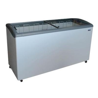 """Ojeda Glass Top Ice Cream Freezer NB-68 - 68"""""""