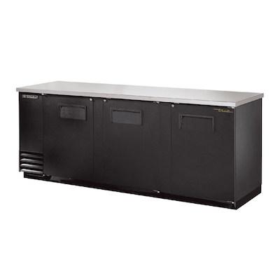 """TRUE Back Bar Refrigerator TBB-24-72 - 72"""", Solid Door"""