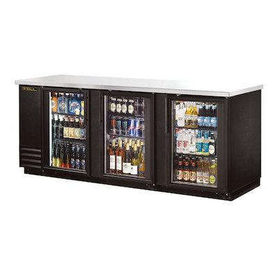"""TRUE Back Bar Refrigerator TBB-24-72G-LD - 72"""", Glass Door"""