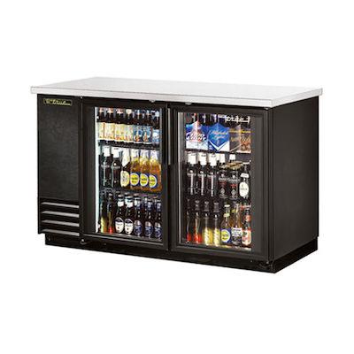 """TRUE Back Bar Refrigerator TBB-2G-LD - 59"""", Glass Door"""