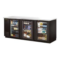 "TRUE Back Bar Refrigerator TBB-4G-LD - 90"", Glass Door"