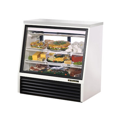 "TRUE Floor Display Refrigerator TSID-36-2 - 36"", Angled"