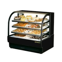 "TRUE Floor Refrigerated Bakery Case TCGR-36 - 36"", Curved Glass"