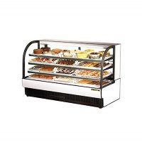 "TRUE Floor Refrigerated Bakery Case TCGR-77 - 77"", Curved Glass"
