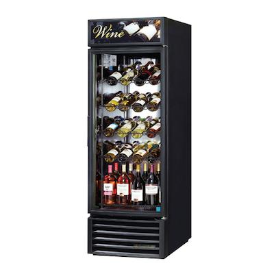 TRUE Glass Door Wine Merchandiser GDM-23W-HC-LD - Full Size