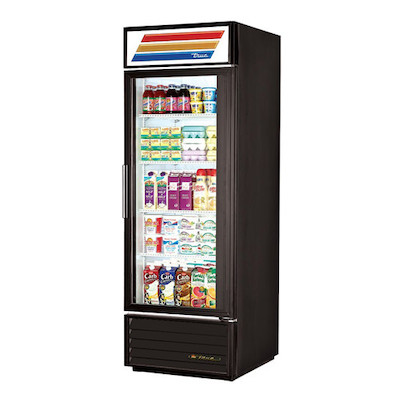TRUE Glass Merchandising Refrigerator GDM-23-HC-LD - 27""