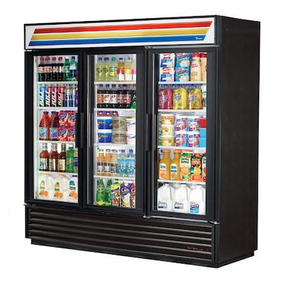 "GDM-72-HC-LD TRUE Glass Merchandising Refrigerator GDM-72-HC-LD - 78"""