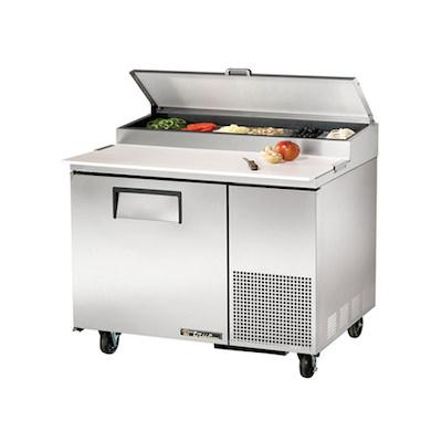 "TRUE Pizza Prep Refrigerator TPP-44 - 44"""