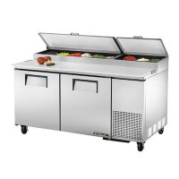 TRUE Pizza Prep Refrigerator TPP-67 - 67""