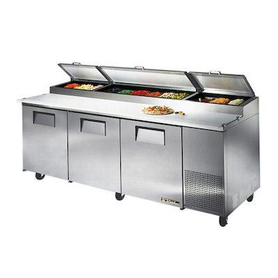 "TRUE Pizza Prep Refrigerator TPP-93 - 93"""