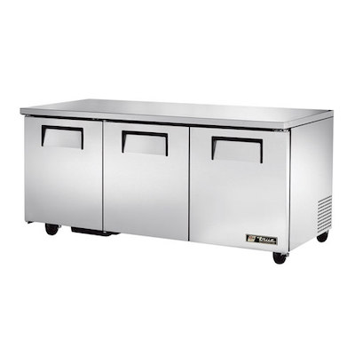 "TRUE Undercounter Refrigerator TUC-72 - 70"", Three Door"