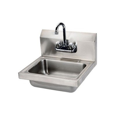 "Thorinox Wall Mounted Hand Sink THS-1-F - 17""x16"", With Faucet"