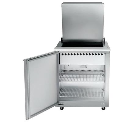 UST2706L-SB Traulsen Compact Sandwich Prep Table UST2706L-SB - Hinged Flat Top