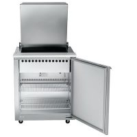 UST2706R-SB Traulsen Compact Sandwich Prep Table UST2706R-SB - Hinged Flat Top