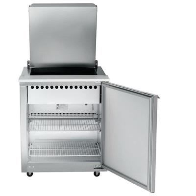 UST2709R-SB Traulsen Refrigerated Sandwich Prep Table UST2709R-SB - One Door