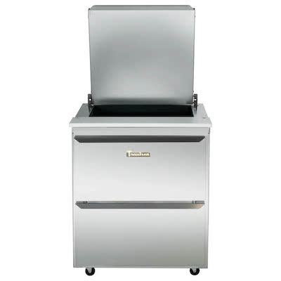 Traulsen Refrigerated Sandwich Prep Table UST3208DD-SB - Two Drawers