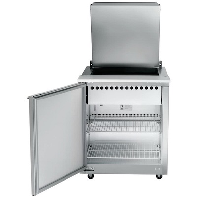 UST3212L-SB Traulsen Refrigerated Sandwich Prep Table UST3212L-SB - One Door