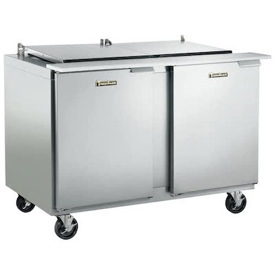 Traulsen Refrigerated Sandwich Prep Table UST4818LL-SB - Two Door