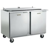 Traulsen Refrigerated Sandwich Prep Table UST6012LL - Two Door, Stainless Steel Back