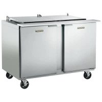 Traulsen Refrigerated Sandwich Prep Table UST6012LR-SB - Two Door, Stainless Steel Back