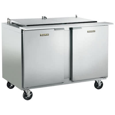 Traulsen Refrigerated Sandwich Prep Table UST6012LR - Two Door, Stainless Steel Back
