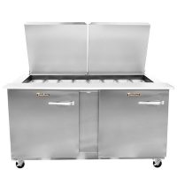 Traulsen Refrigerated Sandwich Prep Table UST6024LL-SB - Two Door