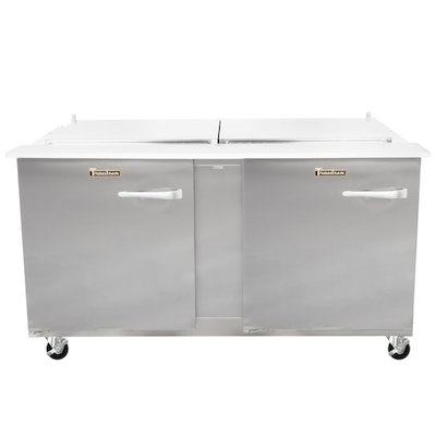 UST6024LL Traulsen Refrigerated Sandwich Prep Table UST6024LL - Two Door