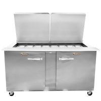 Traulsen Refrigerated Sandwich Prep Table UST6024LR-SB - Two Door