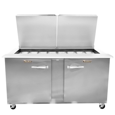 Traulsen Refrigerated Sandwich Prep Table UST6024LR-SB - Two Door