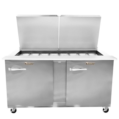Traulsen Refrigerated Sandwich Prep Table UST6024RR-SB - Two Door