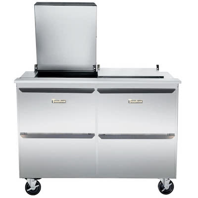 Traulsen Refrigerated Sandwich Prep Table UST7218DD - Four Drawers
