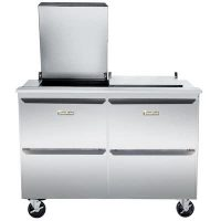 Traulsen Refrigerated Sandwich Prep Table UST7218DD-SB - Four Drawers