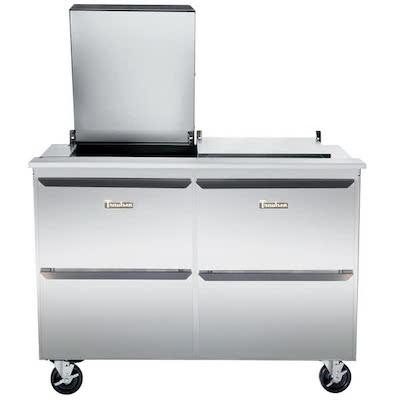 Traulsen Refrigerated Sandwich Prep Table UST7218DD-SB - Four Drawers