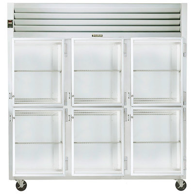 Traulsen Three Section Reach In Refrigerator G32002 - Glass Half Door