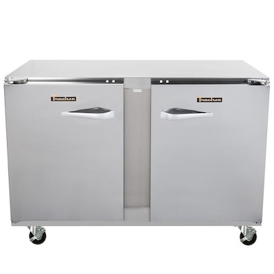 UHT48LR Traulsen Undercounter Refrigerator UHT48LR - Two Hinged Doors, Stainless Steel Back