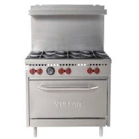 Vulcan Commercial Gas Range SX36-6BN - 6 Open Burners, 36""
