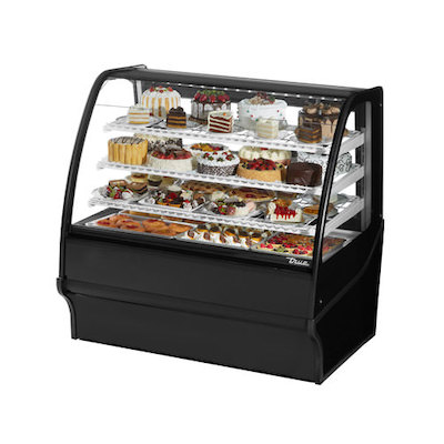 TRUE TDM-R-36-GE-B Floor Display Refrigerator