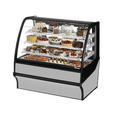 TRUE TDM-R-48-GE-W Floor Display Refrigerator