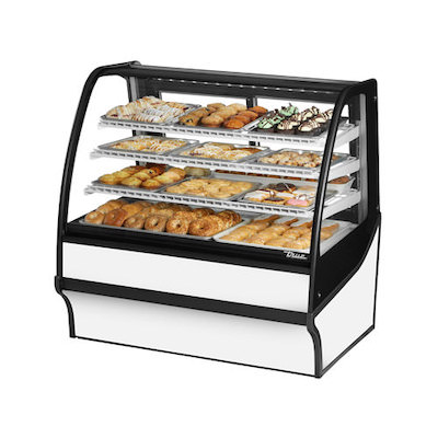 TRUE TDM-DC-48-GE-W Dry Bakery Display Case
