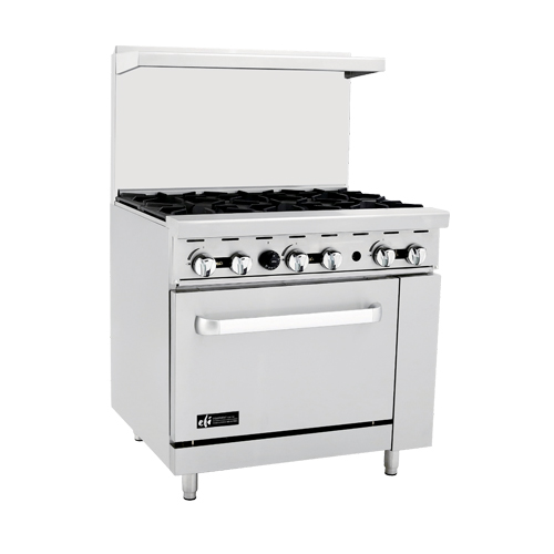 efi rctrs-12g-4b commercial gas range with griddle