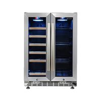eurodib usf36b wine merchandiser glass door