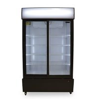 new air ngr-40-s merchandising refrigerator glass