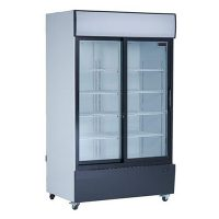 new air ngr-48-s merchandising refrigerator glass