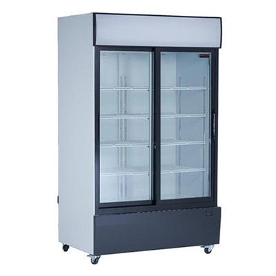 new air ngr-48-s merchandising refrigerator glass