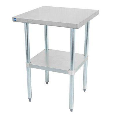 """DSST-2472-GS Thorinox Stainless Steel Work Table DSST-2472-GS - 72"""""""