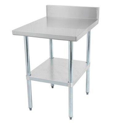 thorinox dsst-2484-bk work table stainless steel with backsplash