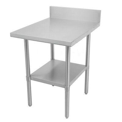 """DSST-2496-BKSS Thorinox Stainless Steel Work Table With Backsplash DSST-2496-BKSS - 96"""""""