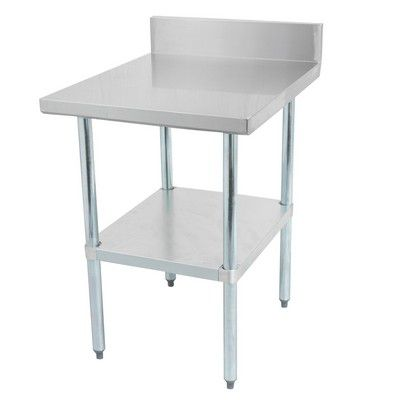 thorinox dsst-3084-bk work table stainless steel with backsplash